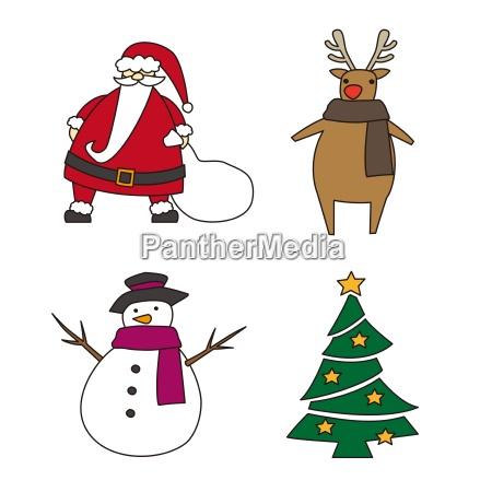 weihnachtselemente illustration