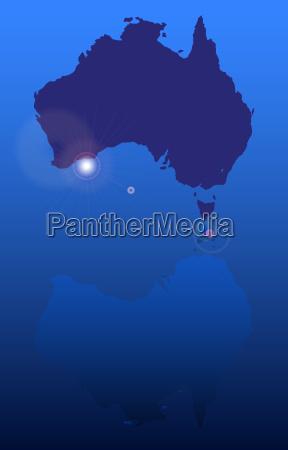 kunst grafik reflexion australien fuenfter kontinent