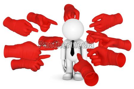 mit rotem finger zeigen