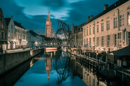 canal dijver and a church of