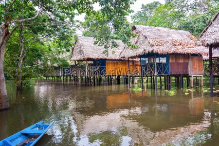 jungle bungalows on stilts