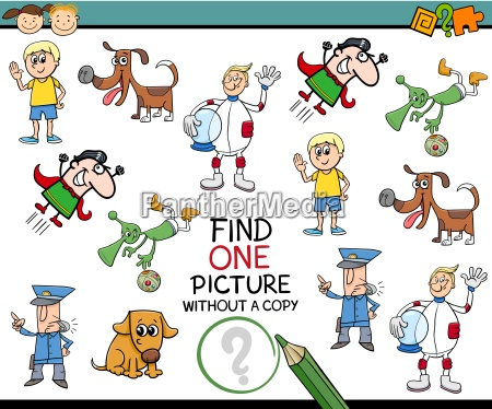 find single picture preschool task