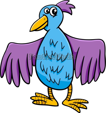 bird character cartoon illustration