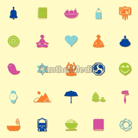 zen society neon icons with shadow