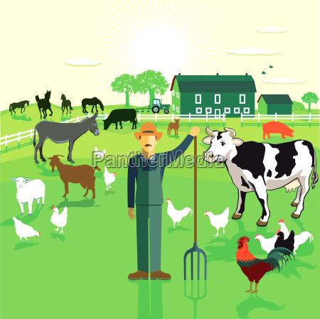 farmers on the farm