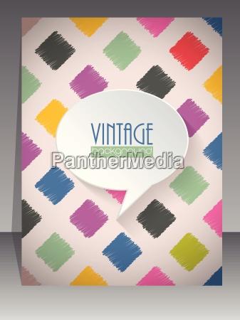 cool vintage retro scrapbook cover design