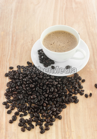 fresh coffee in a white cup