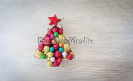 bunte weihnachtsdeko