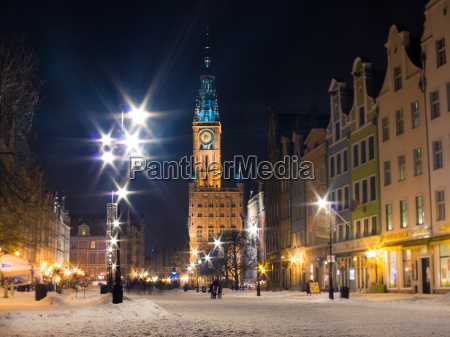 rathaus altstadt danzig polen europa winter