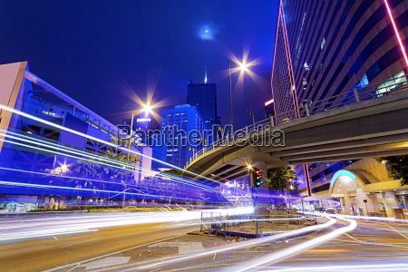 busy traffic night