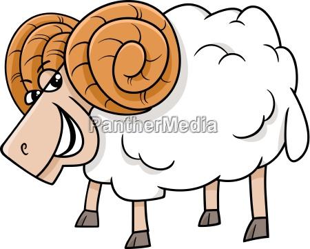 ram farm animal cartoon