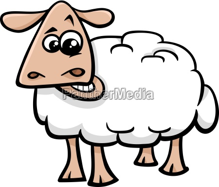 sheep farm animal cartoon