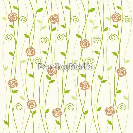 rose und rebe hintergrund muster