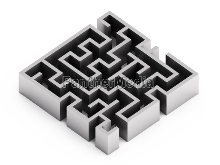 abstract labyrinth on white background