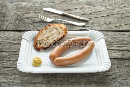saitenwuerste mit senf