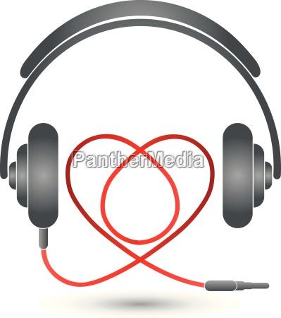 kopfhoerer und herz musik logo musik