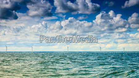 wind turbine power generator farm along