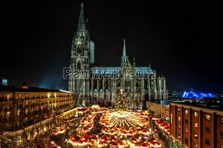 weihnachtsmarkt, am, kölner, dom. - 14669543