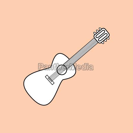 gitarre ist ein saiten musikinstrument