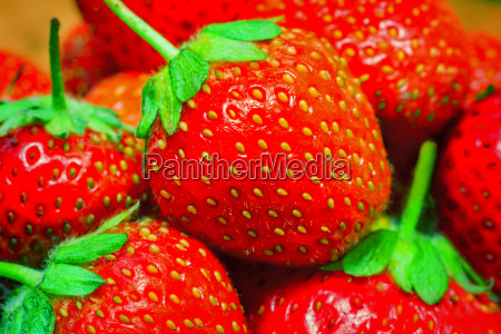 delicious ripe strawberries closeup