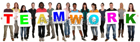 group of young people people multicultural