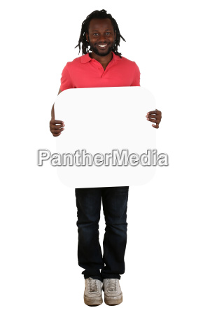 young man african black while holding