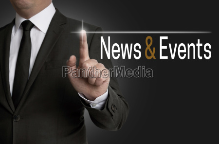 news and events touchscreen wird von