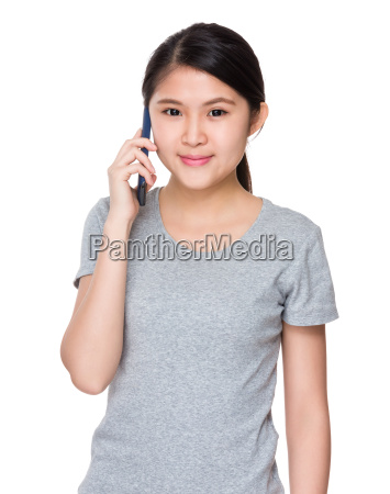 asian woman talk so cellphone