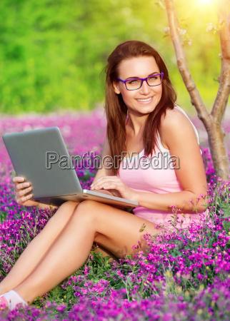 happy student in university garden
