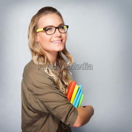 cute student girl portrait