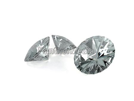 diamanten auf weiss