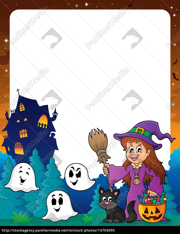 Halloween Thema.Stockfoto 14704095 Halloween Thema Rahmen 8