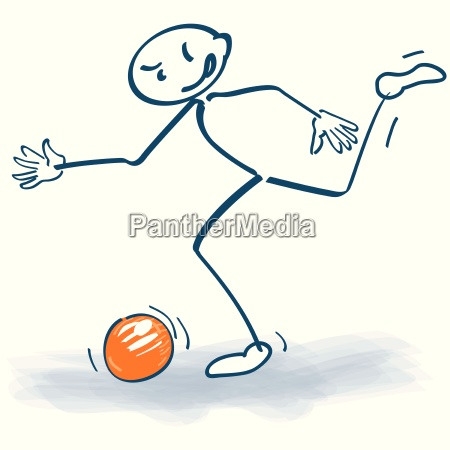stick figure with soccer ball