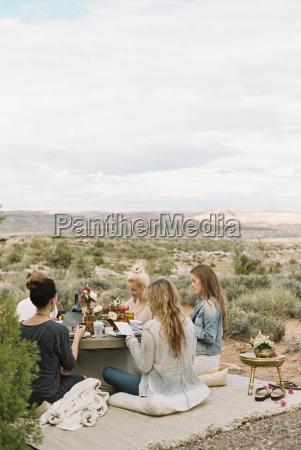 a group of women friends sitting