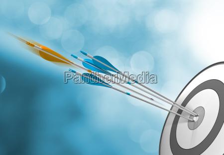 success concept hitting target