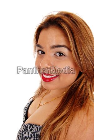 closeup portrait of east indian woman