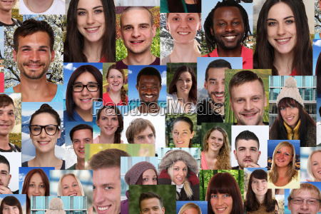 background collage of young people people