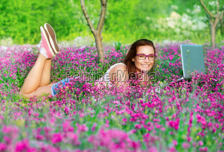 student girl in the park