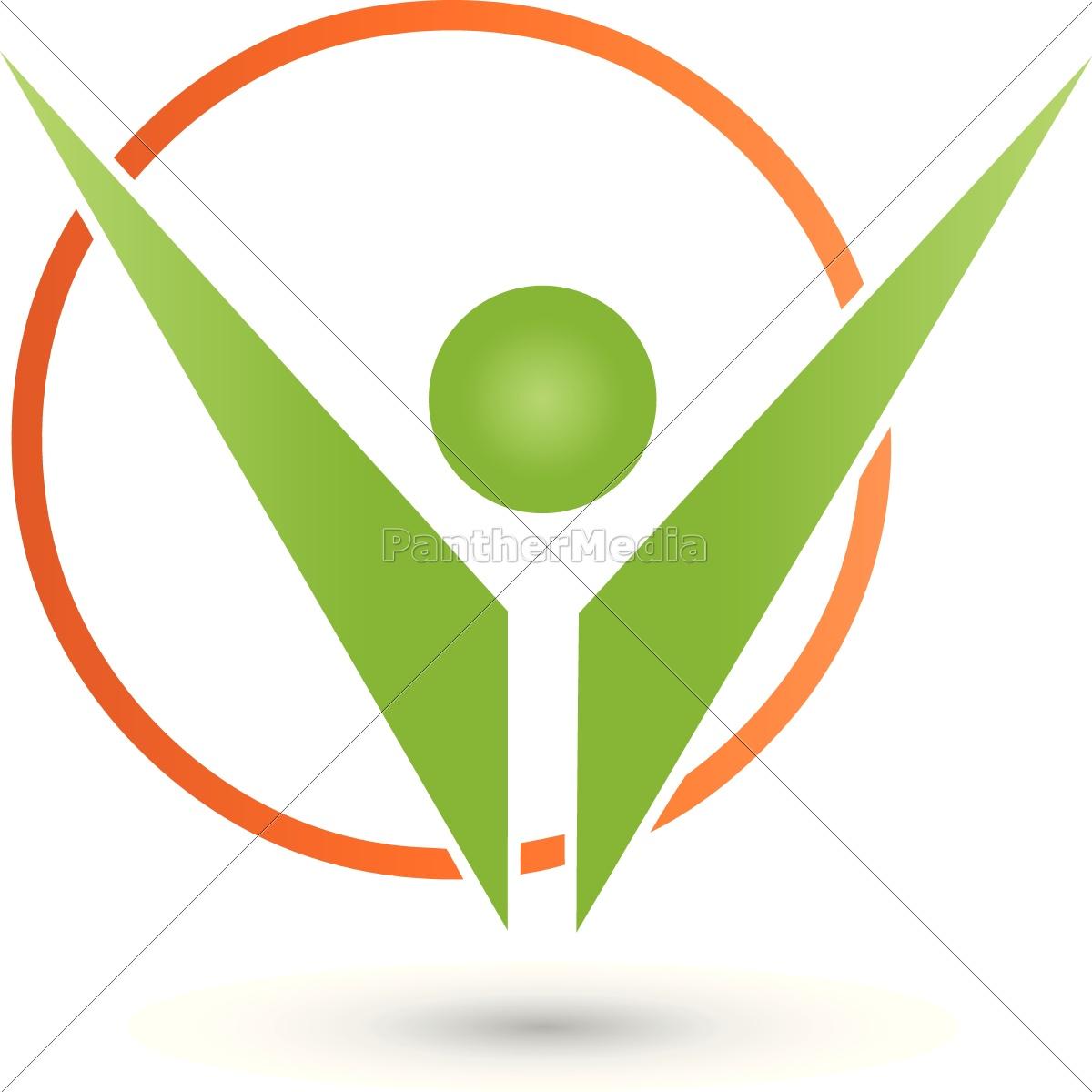 Person Und Kreis Logo Dienstleistung Fitness Lizenzfreies Bild