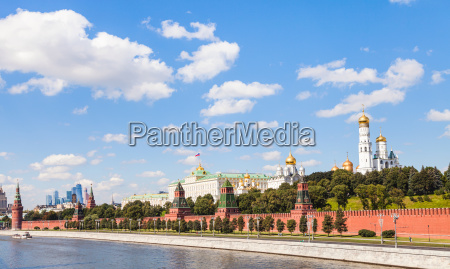 view of moscow kremlin from moskva