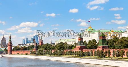 panoramablick moskwa kreml moskau stadt