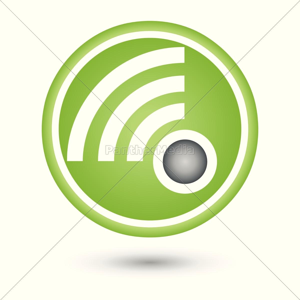 WLAN, Netzwerk, Verbindung, Logo, Icon - Lizenzfreies Bild ...