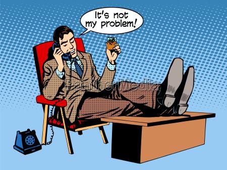 geschaeftsmann spricht business konzept ist nicht