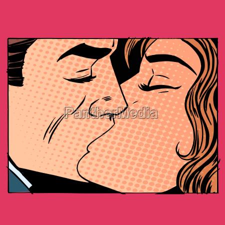 bacio amore uomo e donna