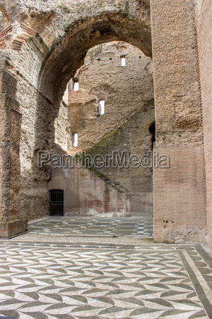 interior of the baths of caracalla