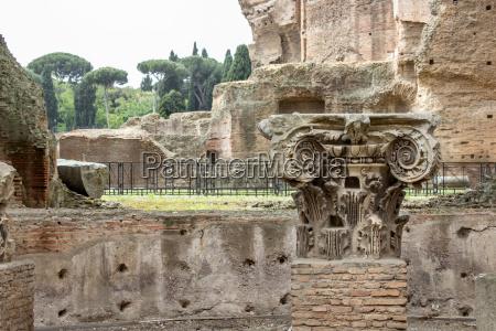 capital a roman column in the