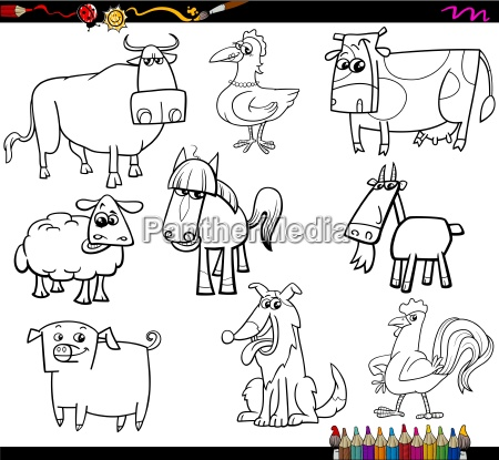 farm animals coloring bookd set
