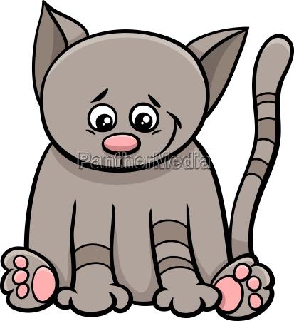 little cat cartoon character
