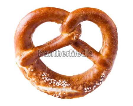 pretzel on a white background