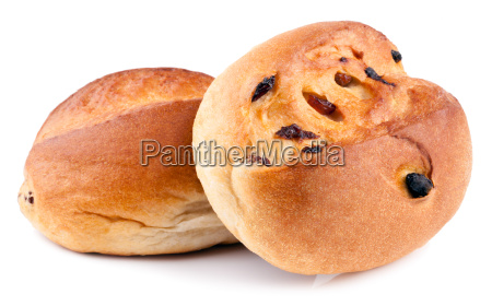 buns on a white background